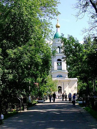 Vagankovo Cemetery - The cemetery church of the Renewal of the Temple