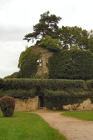 Moulins-Engilbert - The ruins of the chateau