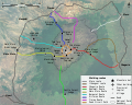 Mount Kenya Climbing Routes and Huts photomap-en.svg