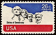 1974 Mount Rushmore -leima myönnetään Yhdysvalloissa