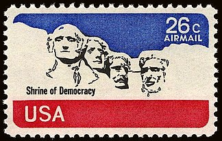 1974 Mount Rushmore Stamp Issued in United States