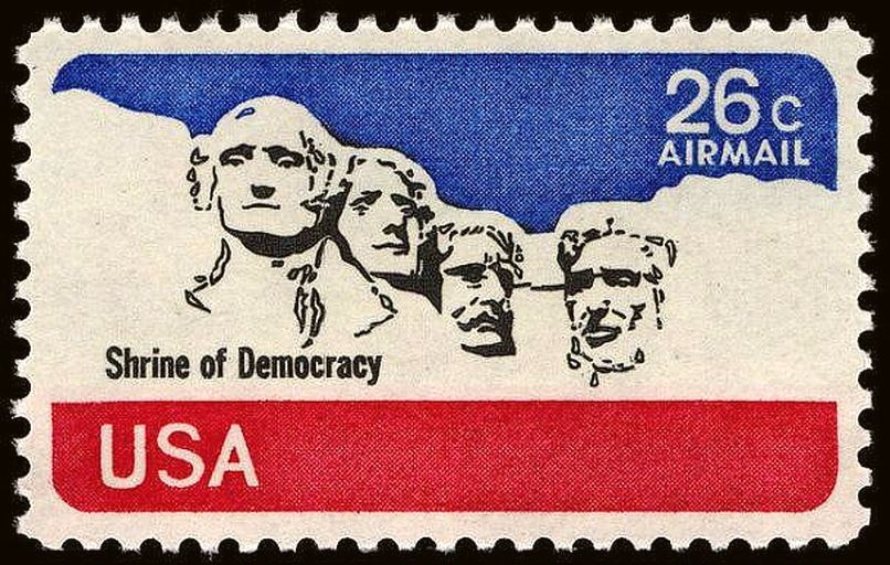 Mount Rushmore airmail 26c 1974 issue