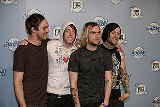 The Used - The Used at the iHeartRadio Much Music Video Awards in 2007.