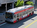 Muni route 54 bus at Daly City station, June 2018.JPG
