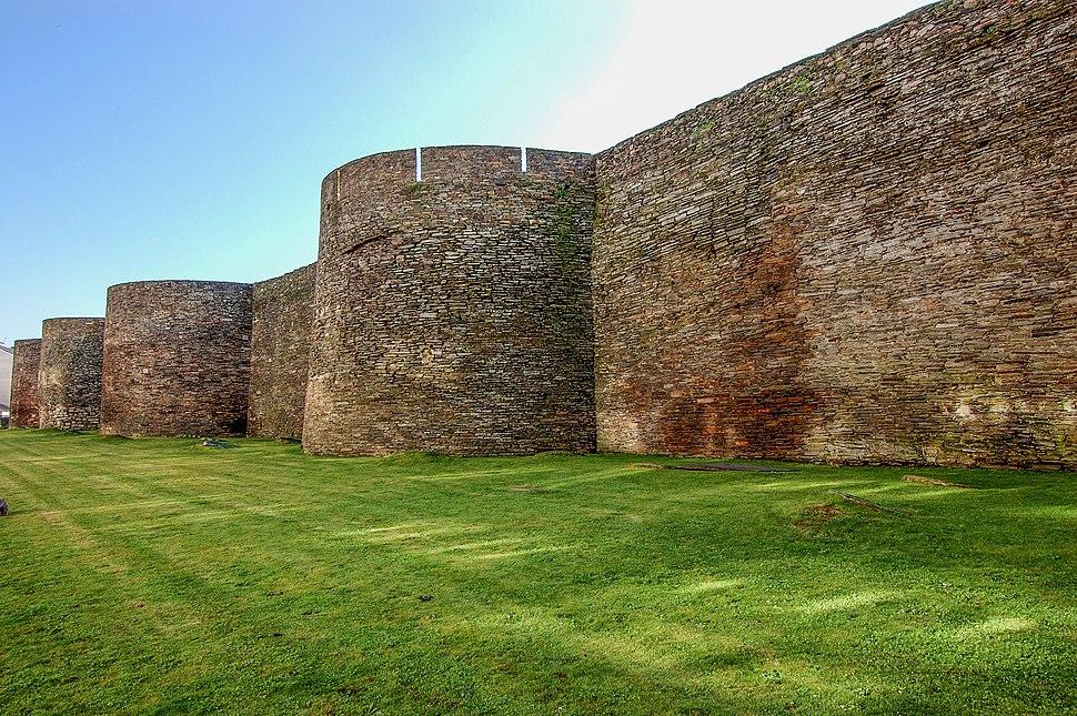 Lugo's Roman walls, Galicia, Spain, a UNESCO World Heritage Site