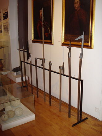 Pole weapon - A selection of pole weapons in the Međimurje County Museum, Croatia.