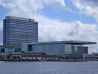 Eastern Docklands Neighborhood of Amsterdam in North Holland, Netherlands