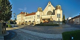 Jan Kotěra - Image: Národní dům panorama, Prostějov