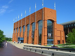NCAA Hall of Champions building located in Ind...