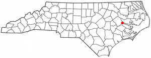 Chocowinity, North Carolina - Image: NC Map doton Chocowinity
