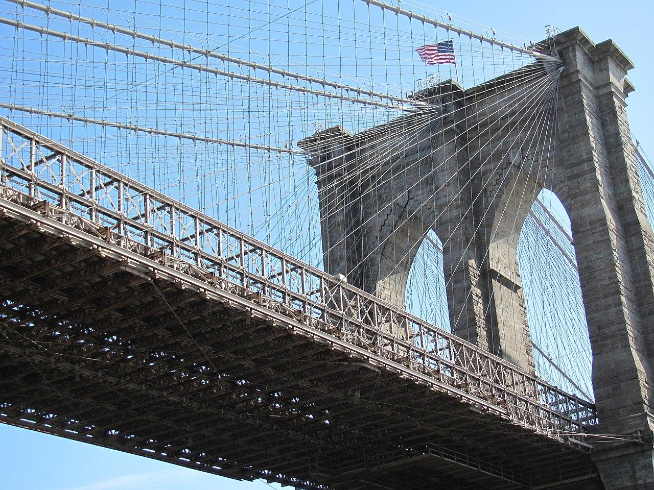 File nyc pont de brooklyn jpg wikimedia commons - Toile pont de brooklyn ...