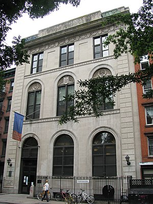 Alphabet City, Manhattan - Tompkins Square branch of New York Public Library on East 10th Street