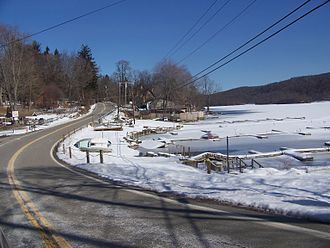Fishkill Creek - Image: NY 292 near Whaley Lake