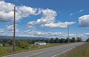 New York State Route 302 - Image: NY 302 view to Shawangunk Ridge from Buckleigh Farms S of Pine Bush