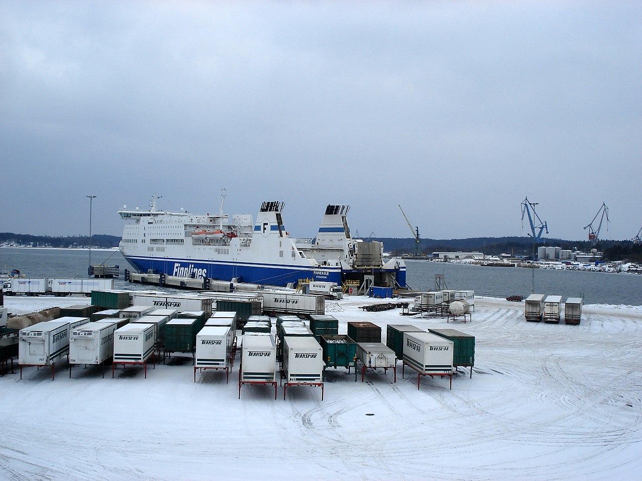 Tiedosto:Naantalin satama, Finneagle, 21.2.2009.JPG
