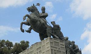 Nader Shah Statue in Mashhad