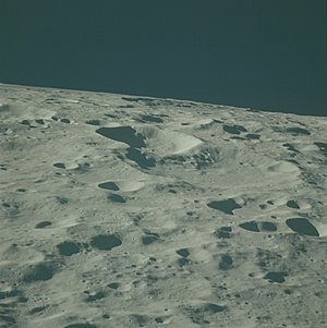 Nagaoka (crater) - Oblique Apollo 16 image, facing north
