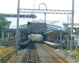 Nagareyama-ōtakanomori Station - Tobu platform layout, as seen from the train tracks