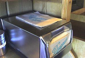 Napkin holder - A wide napkin dispenser