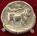 Napoli, toro con testa leonina incoronato dalla vittoria, IV sec ac..JPG