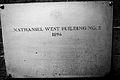 Nathaniel West Bldg 2 Plaque.jpg