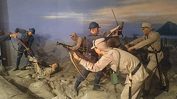 National Memorial, Thailand - Reproducution scene of the Battle of Ao Manao (3).jpg