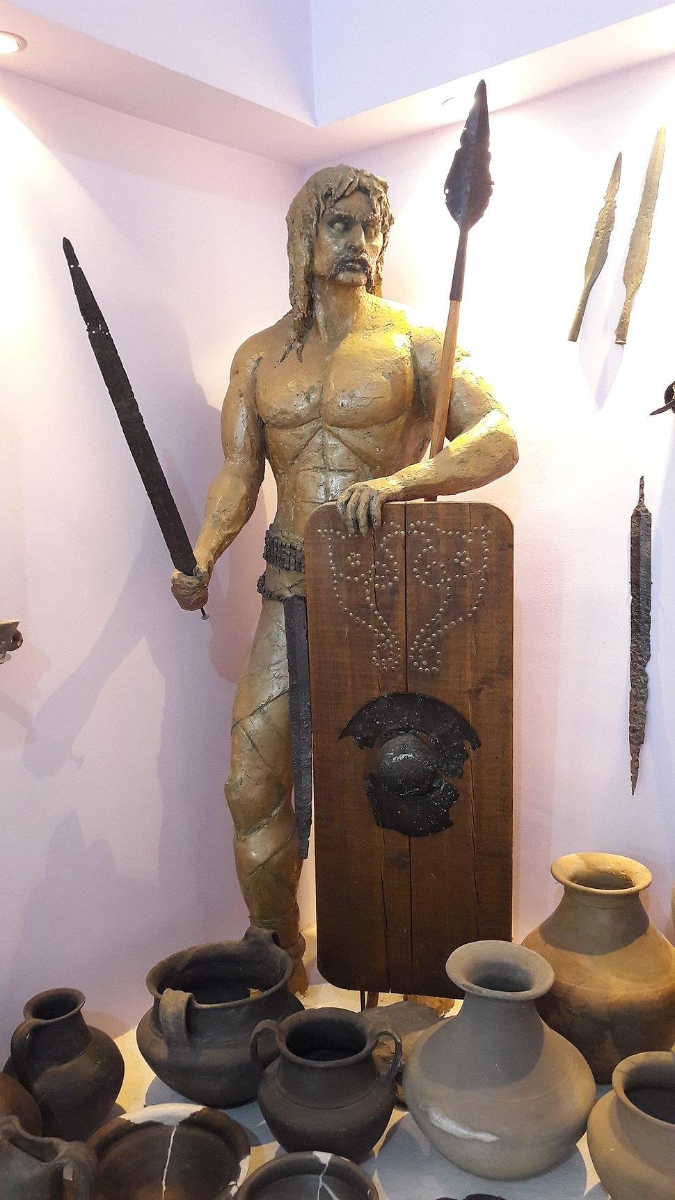 National museum in Požarevac, Scordisci warrior