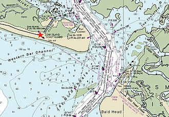 Oak Island Light - NOS Nautical Chart 11537–April 2013