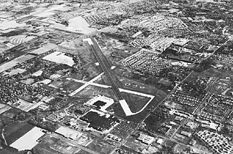 Naval Air Warfare Center Warminster - Aerial view of the NADC in the early 1970s