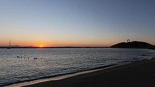 Naxos Νάξος Chora evening 2020-08-20 09 sunset Portara Πορτάρα.jpg