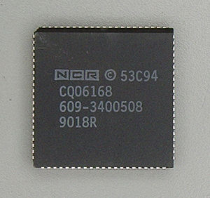 Parallel SCSI - NCR 53C94 SCSI-2 controller in PLCC-84 package.