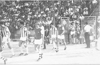 Nea Salamis Famagusta FC - Nea Salamina Famagusta FC against Arsenal F.C., in 1967, in GSE Stadium, Famagusta for a friendly game