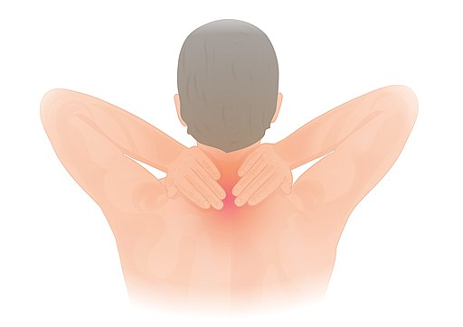 Neck pain illustration