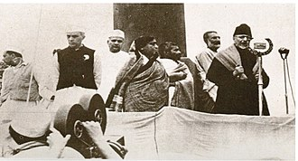 Jharkhand - Jawaharlal Nehru, industrialist Jamnalal Bajaj, Sarojini Naidu, Khan Abdul Ghaffar Khan, andMaulana Azad at the 1940 Ramgarh Session of the Indian National Congress