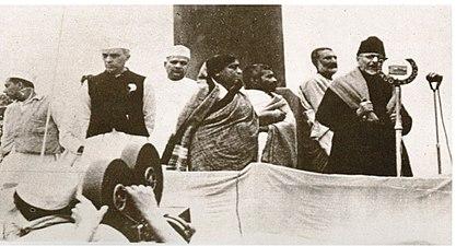 Nehru bajaj sarojini khan azad1940a