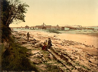 New Brighton, Merseyside - New Brighton Pier and landing stage, during the 1890s