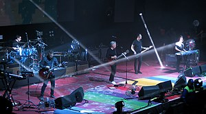 New Order performing in Chile in 2019