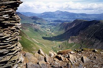 Newlands Valley - The Newlands valley with Skiddaw beyond from Dale Head.