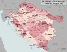 Административна подела Независне Државе Хрватске 1943—1944