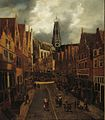 Nicolaes Hals - Haarlem in the Grote Houtstraat looking north towards the Grote Kerk FHM OS-I-123.jpg