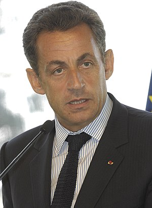 English: French president, Nicolas Sarkozy