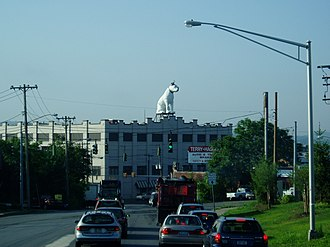 North Albany, Albany, New York - Nipper watching over North Albany, as seen from Loudonville Road