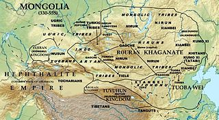 Rouran Khaganate State established by proto-Mongols, from the late 4th century until the middle 6th century