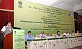 Nitin Gadkari addressing at the National Conference and launch of the Green Highways Policy 2015, in New Delhi. The Minister of State for Road Transport & Highways and Shipping, Shri P. Radhakrishnan, the Secretary.jpg