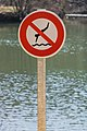 No diving sign in Rodez.jpg