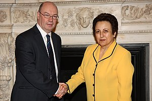 Shirin Ebadi - UK Foreign Office Minister Alistair Burt meeting Ebadi in London, 3 February 2011