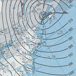 February 1995 nor'easter - Image: Nor'easter 1995 02 05 weather map
