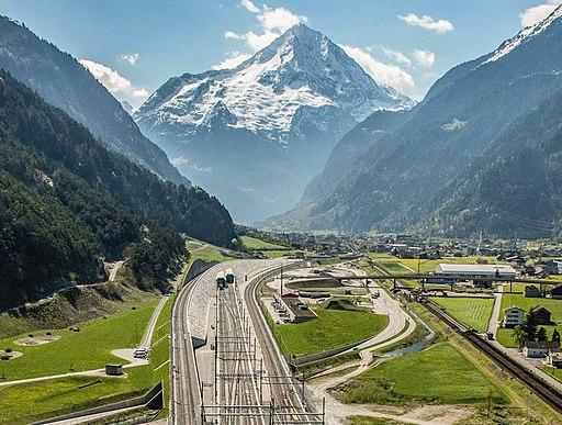 Nordportal Gotthard-Basistunnel