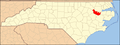 North Carolina Map Highlighting Martin County.PNG