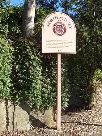 North Sydney Council - North Sydney Council signpost at Cammeray